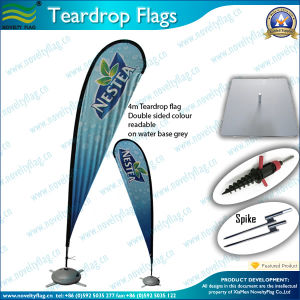 Outdoor Teardrop Flag and Banner with X-Cross Base (J-NF04F06061) pictures & photos