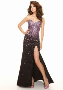Colorful Beaded Black A-Line Long Formal Evening Dresses (ED3047) pictures & photos