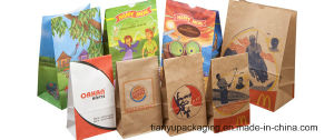 Square Bottom Take Away Food Grade Paper Bag pictures & photos