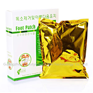 Foot Skin Care Pads Gold Foot Patch with Paper Bo pictures & photos