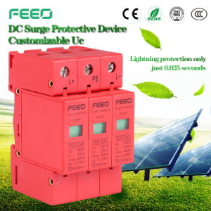 PV Application Three Phase Class C 20ka-40ka DC Surge Protetor pictures & photos