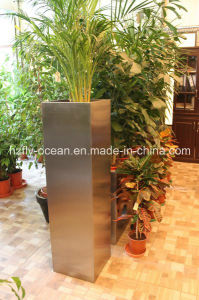 Fo-9007 Stainless Steel Tapered Square Flower Container pictures & photos