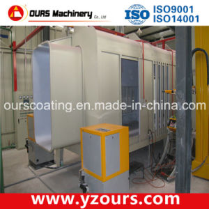 Automatic Powder Coating Booth with Small Cyclone Recovery System pictures & photos