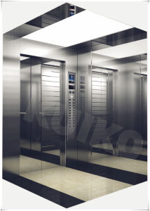 Kjx-Sw51 Commercial Elevator with Decorated Marble Floor pictures & photos