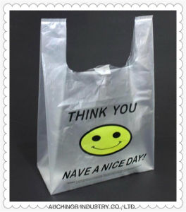 Plastic T-Shirt Bag Singlet Bag Grocery Bag Trolley Bag pictures & photos