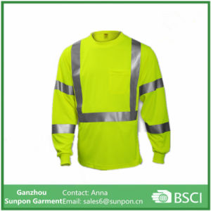 Fluorescent Yellow-Green Long Sleeve T-Shirt pictures & photos