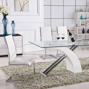 Chinese Home Glass Metal Dining Room Furniture (ET43 & EC37)