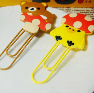 Lovely Cartoon Soft PVC Rubber Paper Clip for Kids pictures & photos