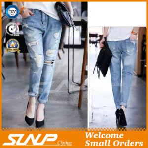 Custom Girl Long Ripped Cotton Fashion Jeans