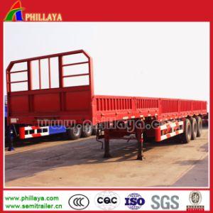 40-50tons Sidewall Flatbed 3axles Detachable Bulk-Cargo Truck Semi Trailer pictures & photos