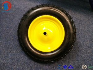 Solid Wheel with Steel Rim pictures & photos