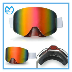 Cheap Anti Fog Grey PC Ski Goggle Eyewear Manufacturers pictures & photos