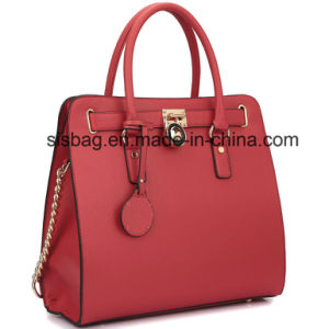 New Designer Padlock Leather Satchel Handbag Briefcase Women Bag pictures & photos