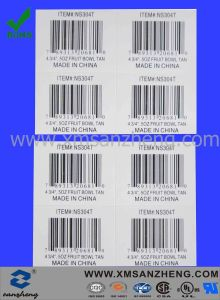 Paper Barcode Sticker with Item No (SZYX064) pictures & photos