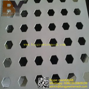 Hexagonal Hole Decorative Metal Screen Sheets / Perforated Sheets pictures & photos