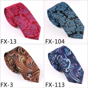 New Design Fashionable Novelty Paisley Necktie (Fx-13) pictures & photos