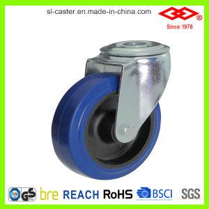 200mm Blue Elastic Rubber Industrial Castor Wheel (D102-23D200X50) pictures & photos