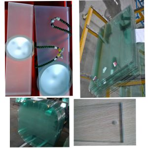 6/8/10mm Clear Tempered Glass /Toughened Glass /Toughed Glas with The Holes and Edge Work pictures & photos
