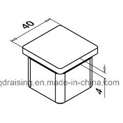 Stainless Steel Square End Cap pictures & photos