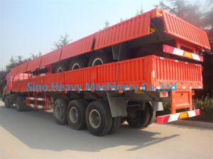 3 Axles 50 Tons Flatbed Semi-Trailer, Container Semi Trailer, Fuwa Axle pictures & photos