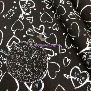 Heart Love Patterns 250GSM Woven Canvas Fabric pictures & photos