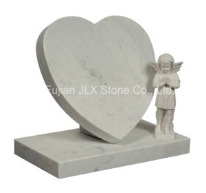 Chinese White Marble Angel Statue Heart Children Memorials pictures & photos