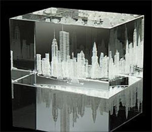 3D Laser Crystal Cube (JC040CL)