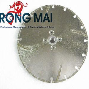Electroplated Circular Diamond Segment Cutting Saw Blade with Flange