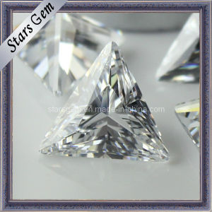 Bling Bling Shining Clear White Tringle Shape Synthetic Diamond Cubic Zirconia for Jewelry pictures & photos
