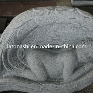 Granite Stone Carved Angel Gravestone / Monument / Tombstone for Cemetery pictures & photos