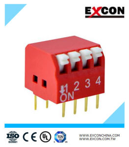Micro Slide Switch Excon Rpl-04-R SMD Red Color pictures & photos