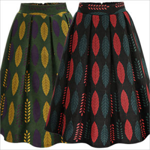 Fashion High-Waist Floral Skirt for Woman′s Clothes pictures & photos