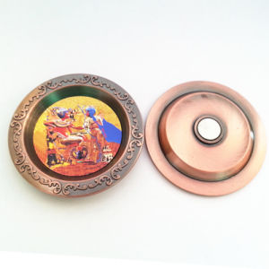 Souvenir Promotion Customized Metal Ash Tray with Magnet (F5050) pictures & photos