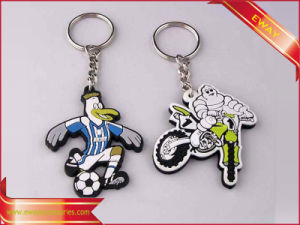 Rubber Promotion Gift Keychain Metal Ring Keychain pictures & photos