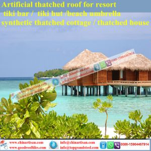 Natural Look Fireproof Waterproof Synthetic Thatch Artificial Thatch Palm Leaf Thatch Umbrella pictures & photos