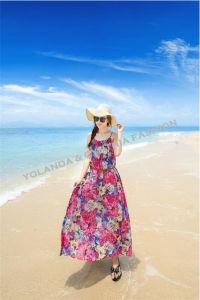 Fashion Printed Chiffon Long Dress/ Beach Dress