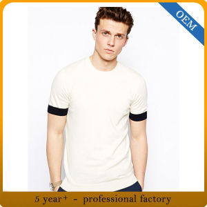 Custom Cheap Cotton Plain Male T Shirts pictures & photos