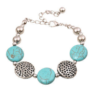 Turquoise Pendent Charms Design Fashion Bracelet