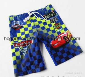 Kids Boy Swimming Suit. Car Printed T-Shirts and Pants pictures & photos