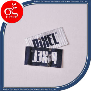 Custom Design Damask Label 100% Polyster Twill Woven Labels pictures & photos
