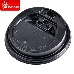 Disposable Black Paper Coffee Cup Plastic Closure Cap pictures & photos