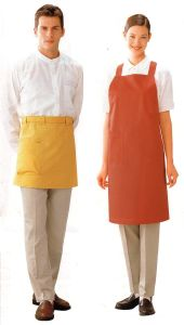 Quick Dry Apron 100% Cotton Fabric Painfore for Chef or Housekeeping -01 pictures & photos