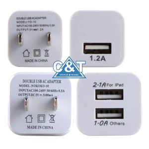 Dual Power Adapter USB Wall Charger for iPhone 6 pictures & photos