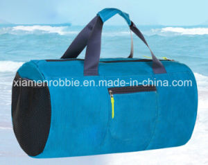 New Stylish Roll Top Waterproof PVC Sky Blue Ripstop Swimming Men Gym Shark Bag with Wet Compartment pictures & photos
