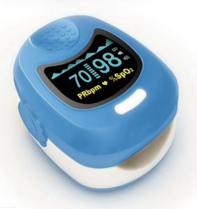 OLED Child Pulse Oximeter with Recharable Button Lithium Battery pictures & photos