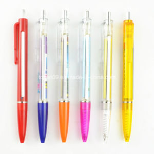 Tc-Pb013 Click Action Plastic Advertising Ball Pen with Paper Insert pictures & photos