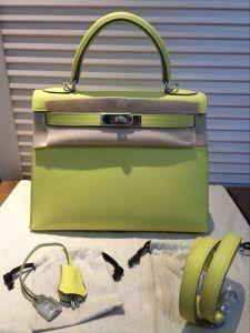 Fashion Handmade C9 Epsom Genuine Leather Women Handbags Bags Tote Bags 28cm