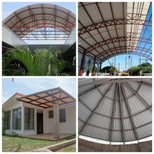Corrosion Resistance Big Wave UPVC Roof Sheet for Greenhouse Building pictures & photos