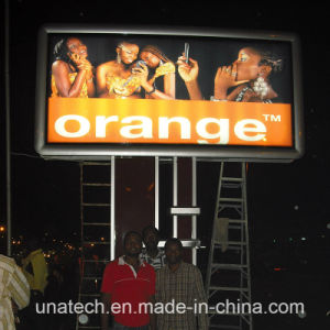Aluminum Mega Vinyl Flex Billboard Outdoor Advertising LED Unipole Light Box pictures & photos