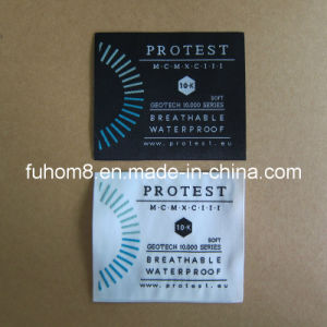 High Density 50 Denier Thread Woven Label pictures & photos